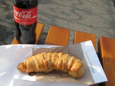183 Friday second breakfast - croisant wrapped wiener