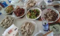 1812 Dinner - Home cooked dumplings, amazing duck, veggies