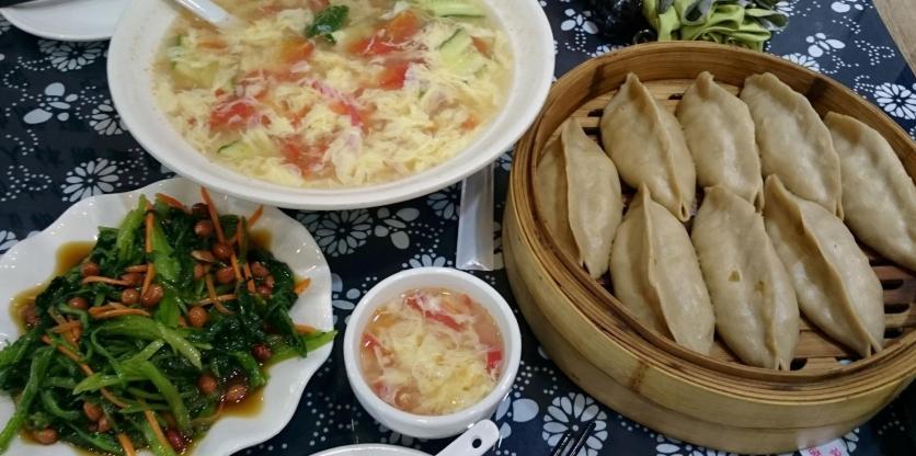 1857 Lunch - Vinegar Veggies, Soup, Weird Dumplings