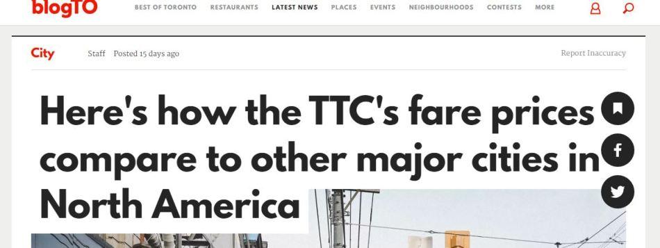 blog toronto