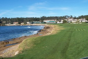 The 18th hole at Pebble Beach.