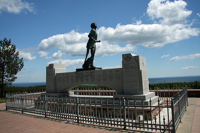 The Terry Fox Monument near Thunder Bay is a stirring tribute to a Canadian hero.