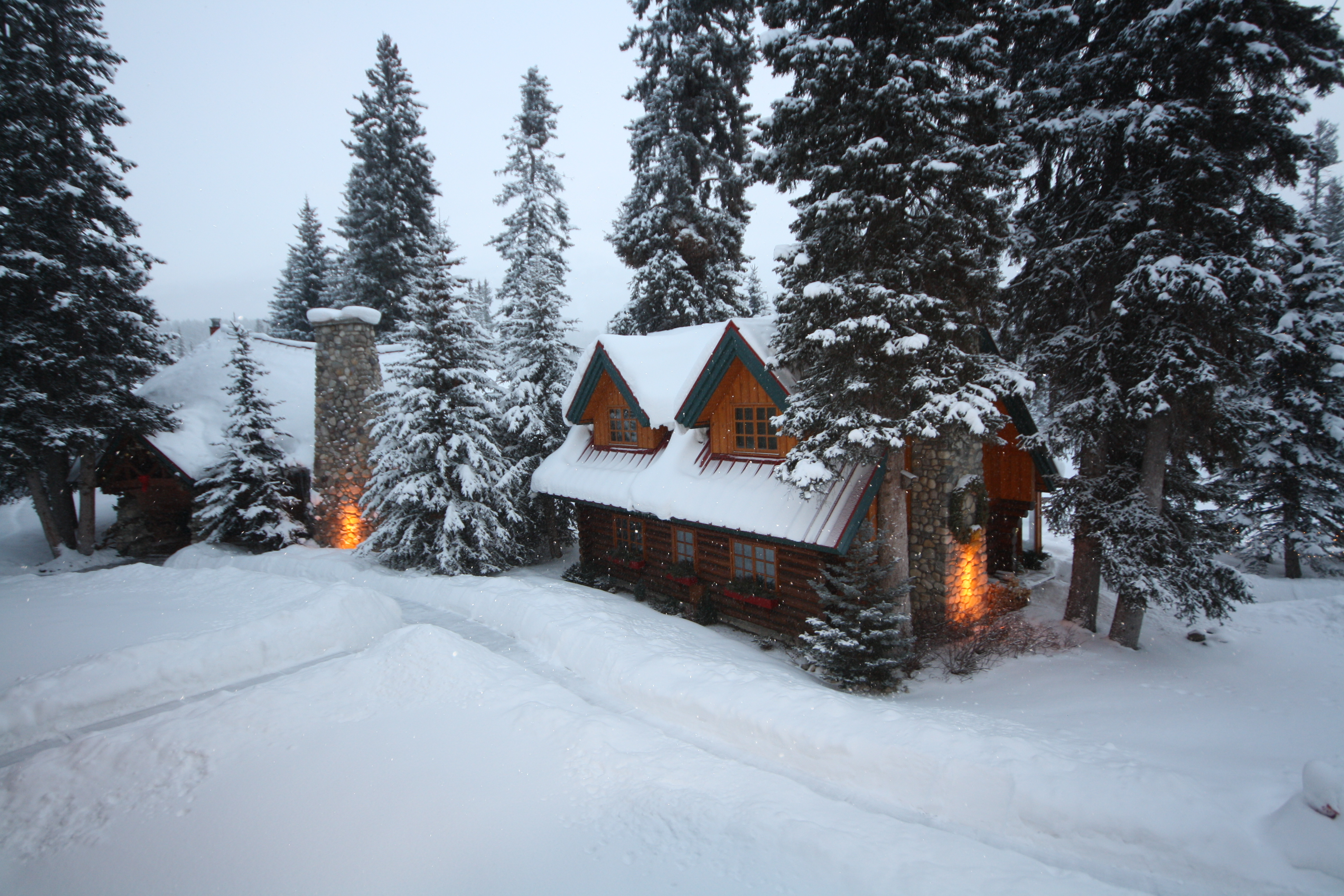 The Post Hotel and Spa in Lake Louise has gorgeous cabins that are just made for a cozy night by the fire. JIM BYERS PHOTO