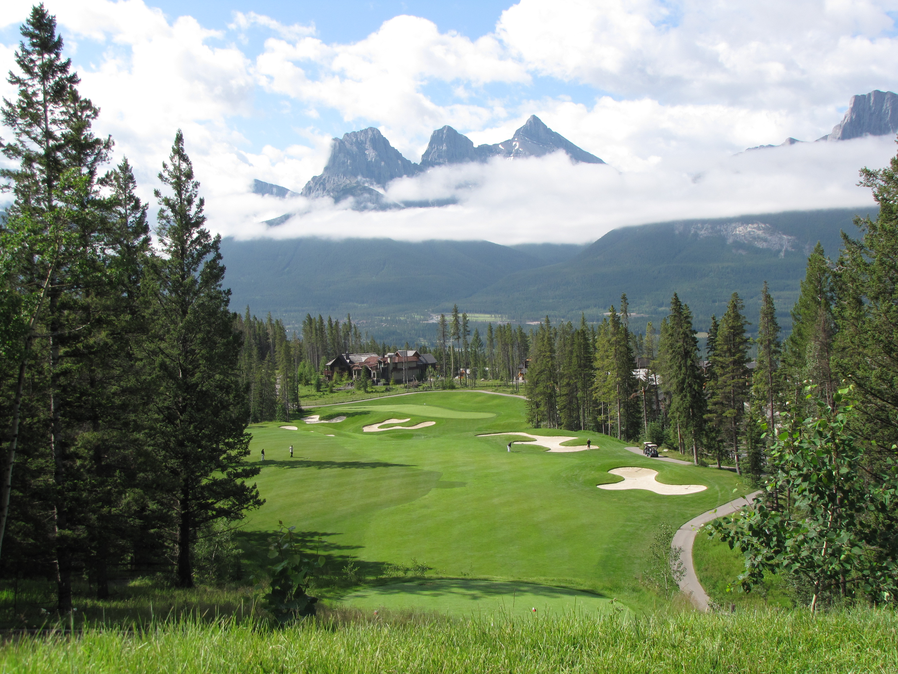 Canmore, just outside Banff, offers a series of remarkable golf courses with great views. This was taken at Silvertip Resort.  JIM BYERS PHOTO
