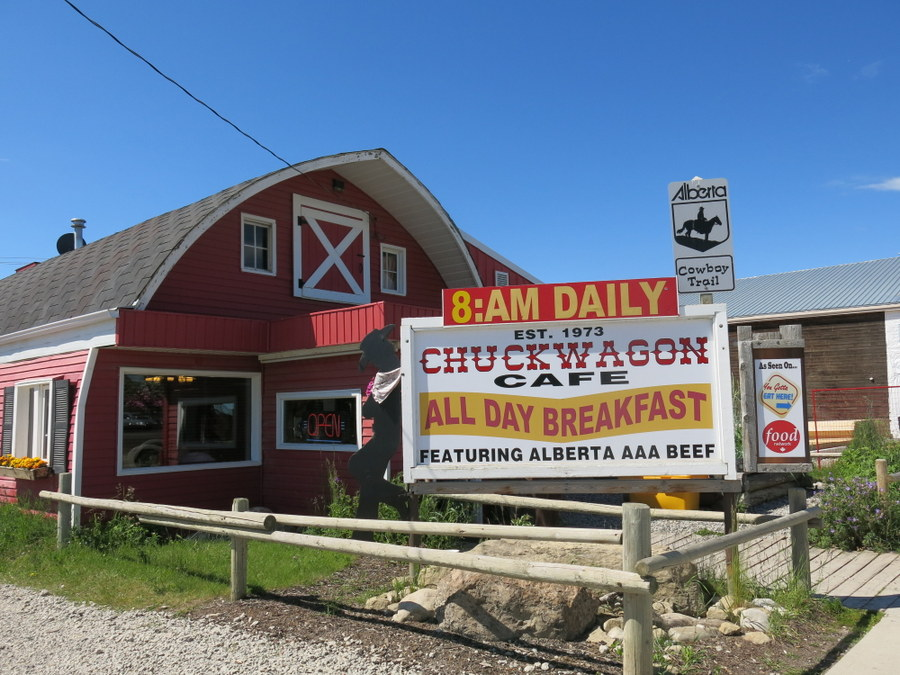 The Chuckwagon is a famous spot in Turner Valley, south of Calgary. Great burgers! The wonderful Eau Claire Distillery is next door and makes what I think is some of the world's best vodka. JIM BYERS PHOTO