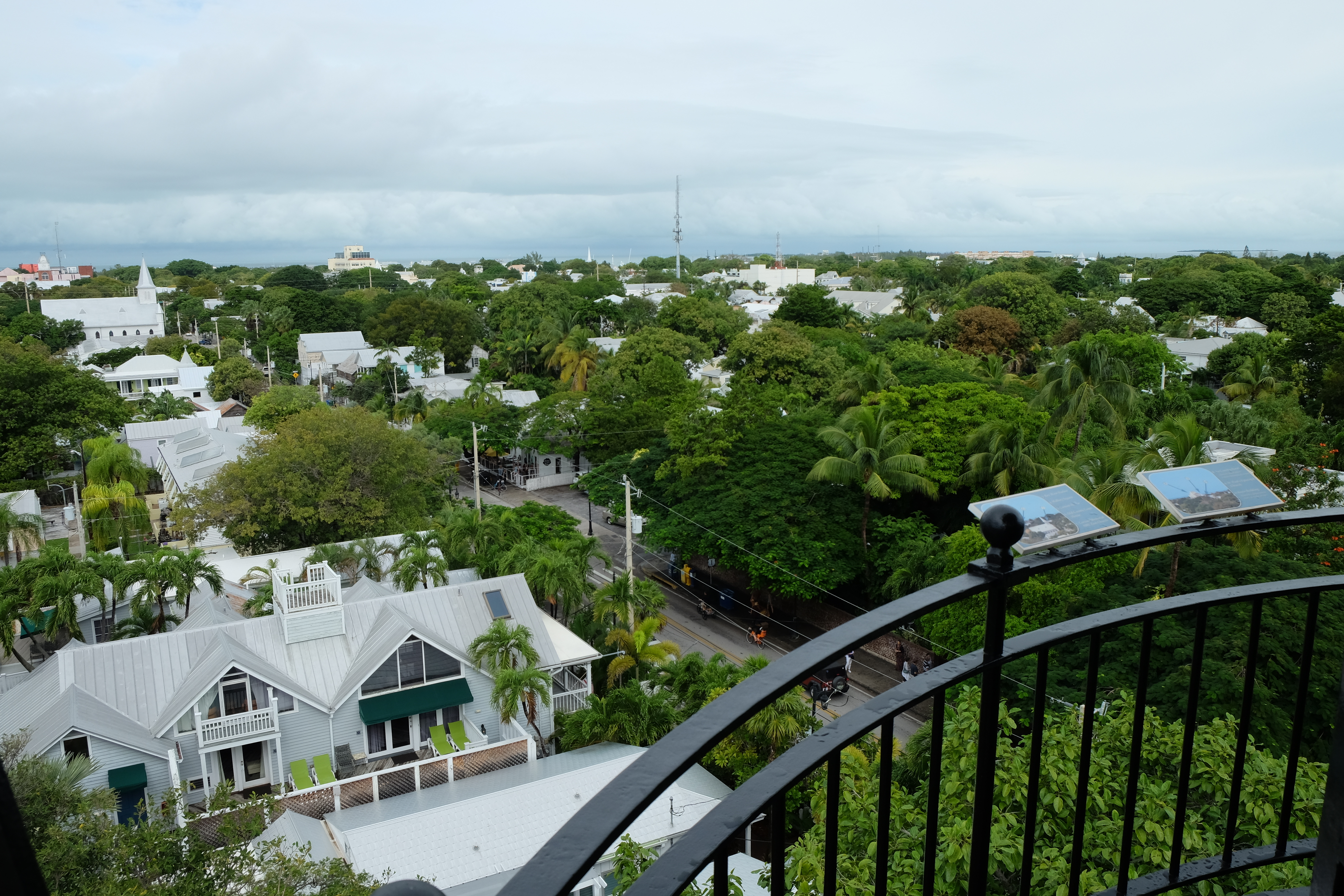 A view from the Key West lighthouse.