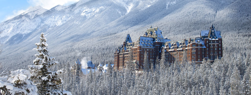 The magnificent Fairmont Banff Springs Hotel in winter. PHOTO COURTESY FAIRMONT HOTELS