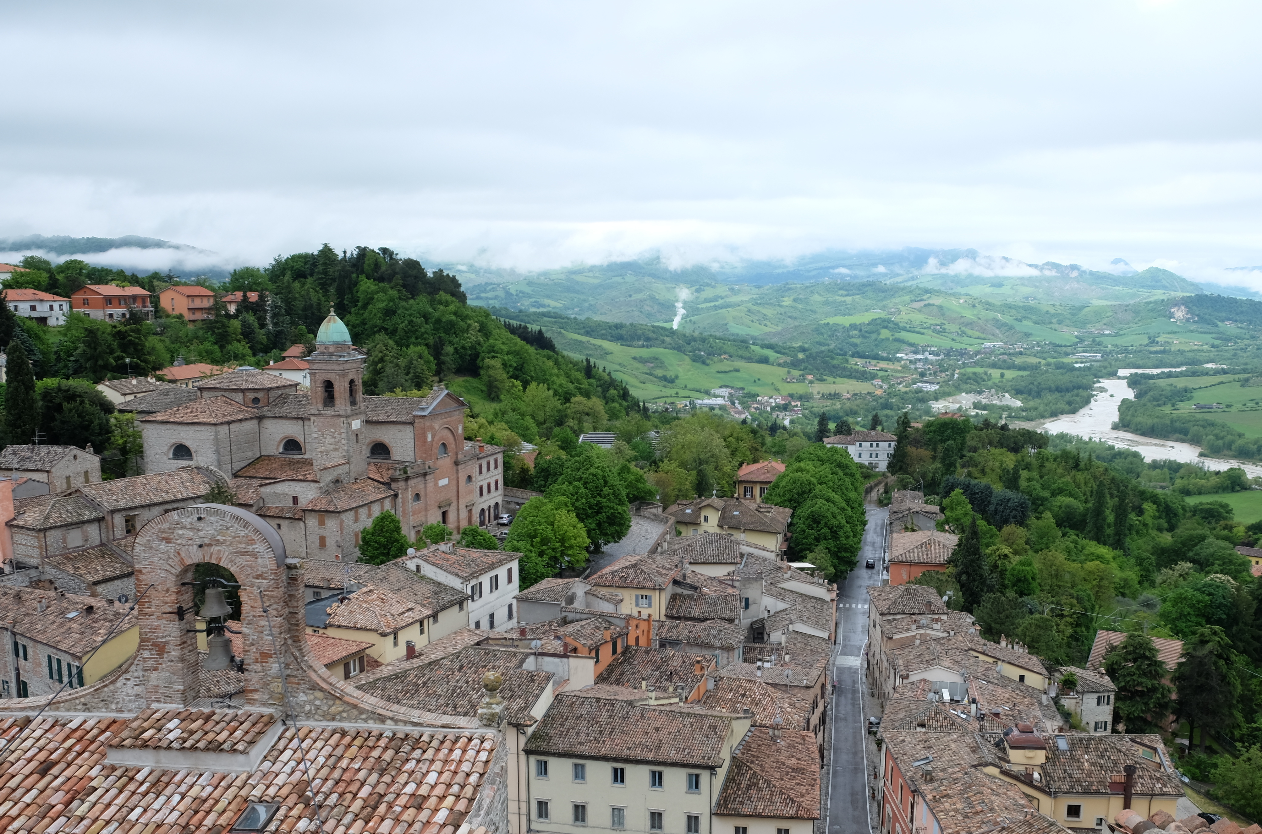 The hilltop village of Verucchio is a lovely spot in Emilia-Romagna. JIM BYERS PHOTO