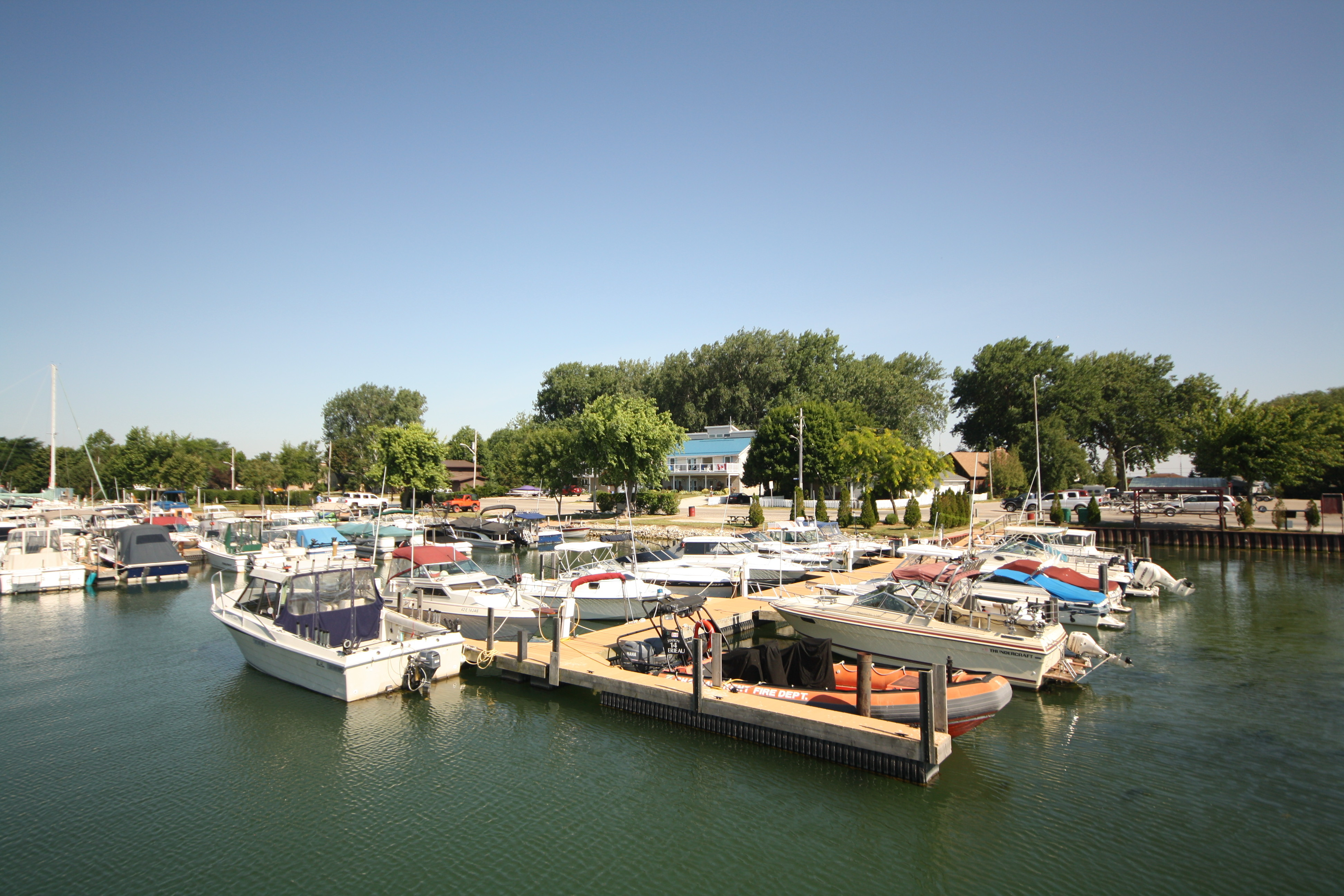 The Erieau Marina is a fun, fine, and inexpensive, place to park you boat for the night. JIM BYERS PHOTO