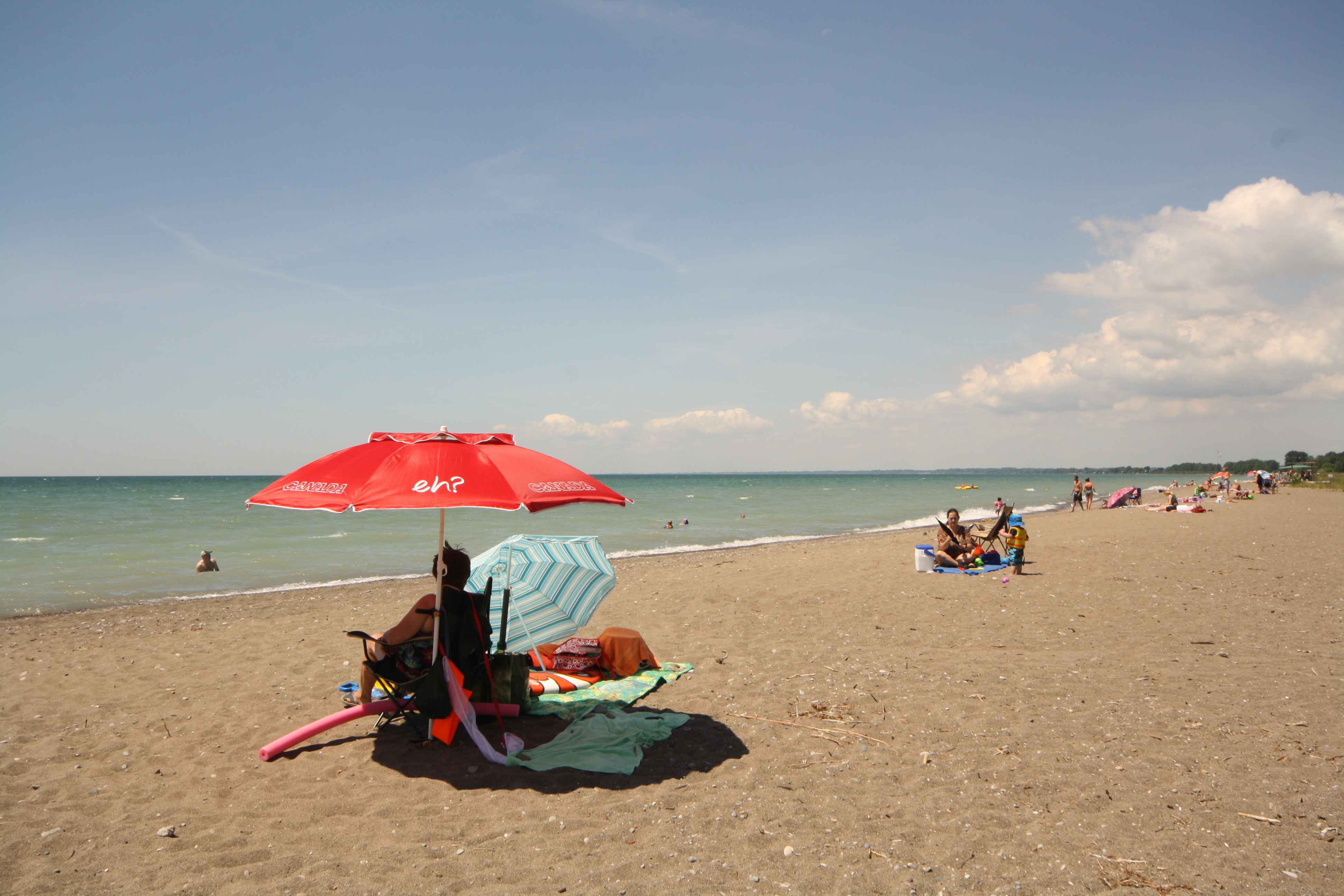 The beach at Erieau is a beauty. The water's nice and warm in summer, too. JIM BYERS PHOTO
