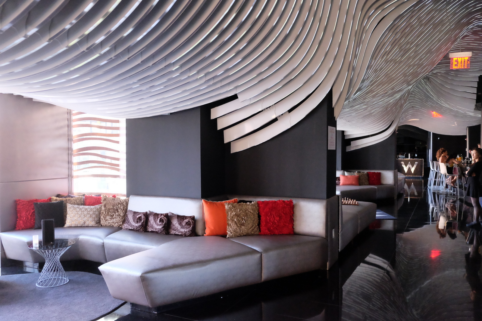 The W Hotel Downtown in lower Manhattan features sleek, modern decor and a great outdoor bar with wonderful views. JIM BYERS PHOTO