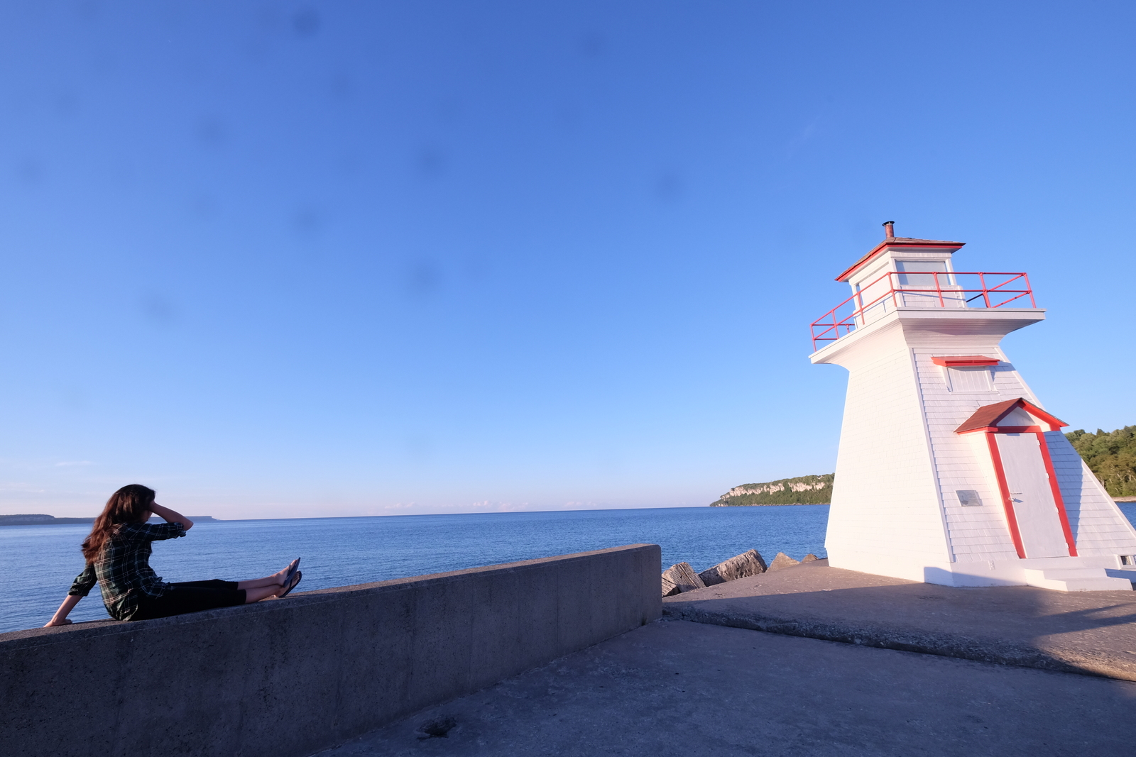 The lighthouse at Lion's Head Harbour is a great spot to catch the sunset. JIM BYERS PHOTO