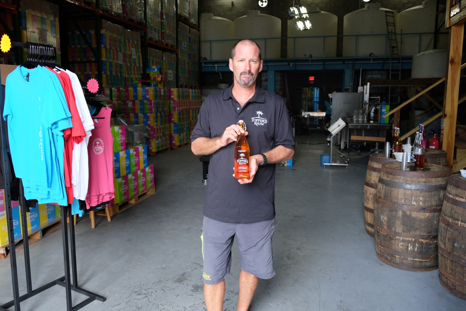 Dave Herbert grew up in Toronto and Montreal and now wears shorts to work in St. Maarten making Topper's Rhum. Hmmm.... - JIM BYERS PHOTO