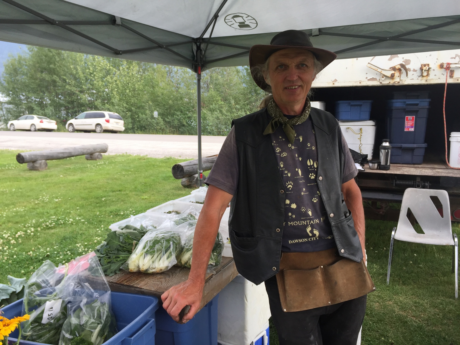 Otto Muehlbach grows organic vegetables outside Dawson City, Yukon. A very interesting guy. - JIM BYERS PHOTO