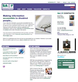 Photo: Scottish Accessible Information Forum (SAIF) website screenshot.