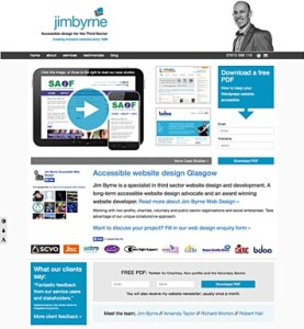 Accessible Web Design by Jim Byrne Accessible Web Design Glasgow for Third Sector: Charities, Voluntary Sector
