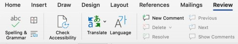 Microsoft Word Tools Ribbon