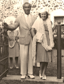 Duke with wife (and longtime friend of my grandmother), Nadine Alexander. Married 1940