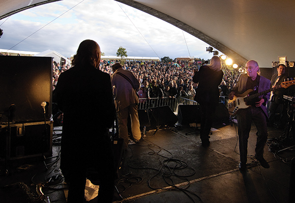 The Blockheads on stage at Rhythm Festival 2011