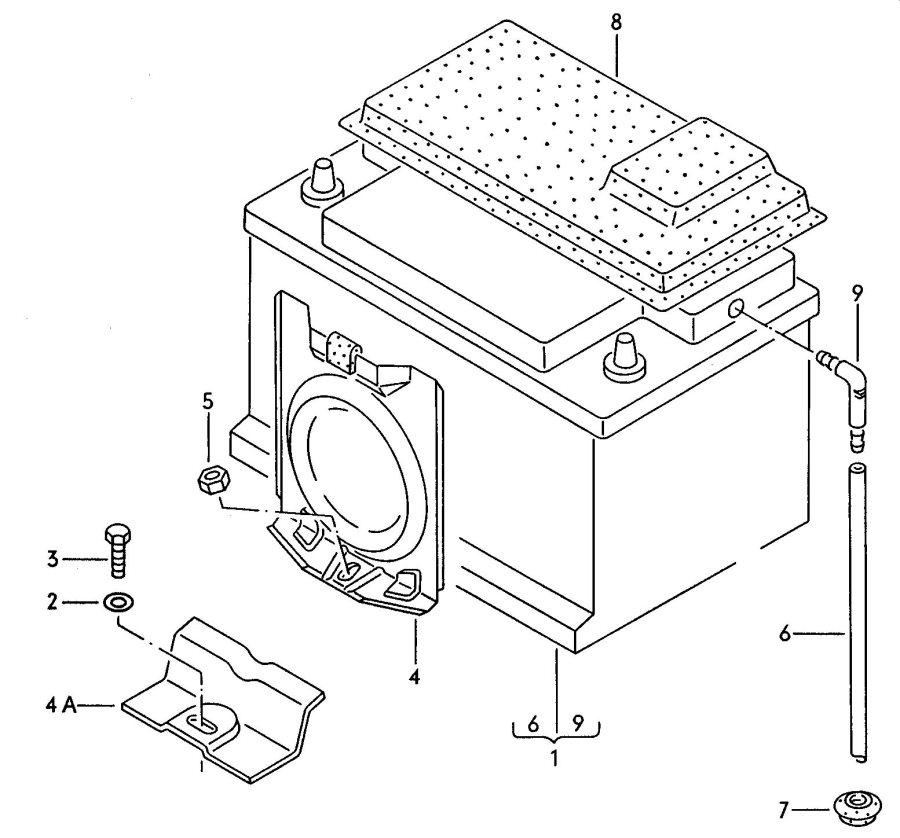 Audi Battery mounting