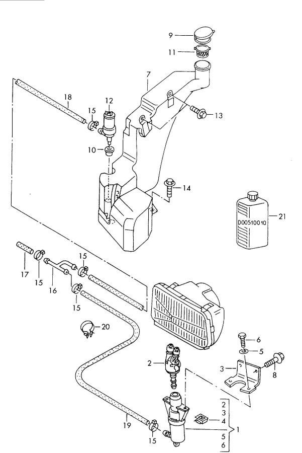 1998 Audi A8 Quattro Headlight washer system