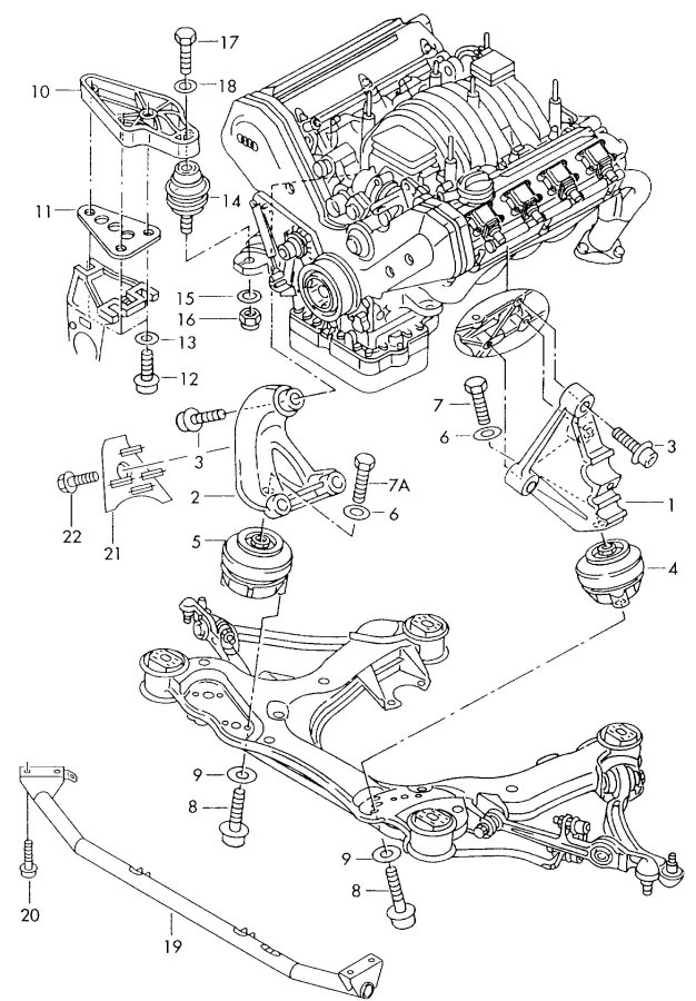 Audi A8 Exhaust System Diagram, Audi, Free Engine Image