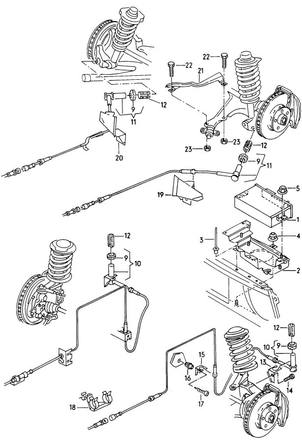 1998 Audi A6 Quattro 2.8L Control unit for abs speed sensor