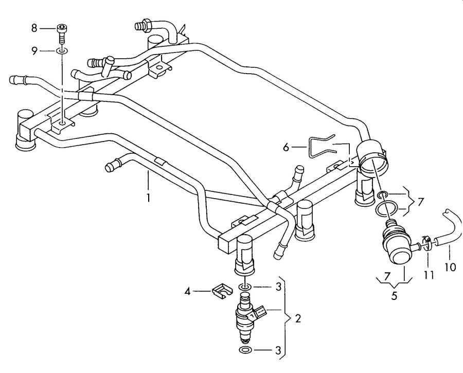 2001 Audi A4 Quattro Avant Injector pressure regulator