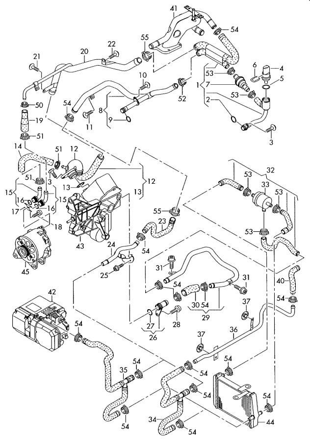 Audi Water cooling alternator oil cooler 6.0ltr.
