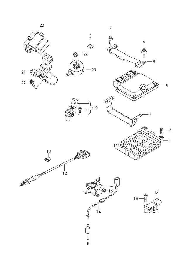 2011 Audi Bracket for elec.contr. module control module