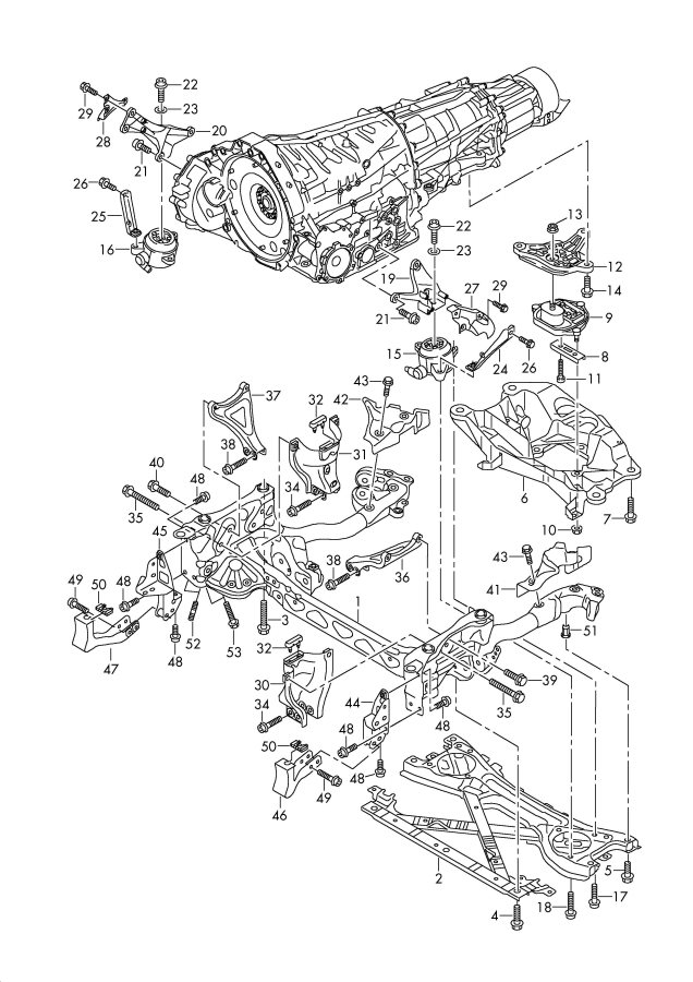Automatic Transmission Components Parts Schematic Diagram