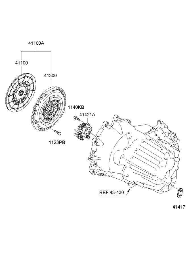 Hyundai Santa Fe CLUTCH RELEASE FORK (MANUAL TRANSMISSION)