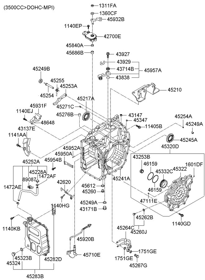 Diagram For Manual Transmission Hyundai Elantra, Diagram