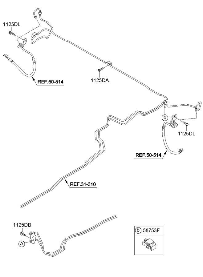 2010 Hyundai Santa Fe BRAKE FLUID LINES