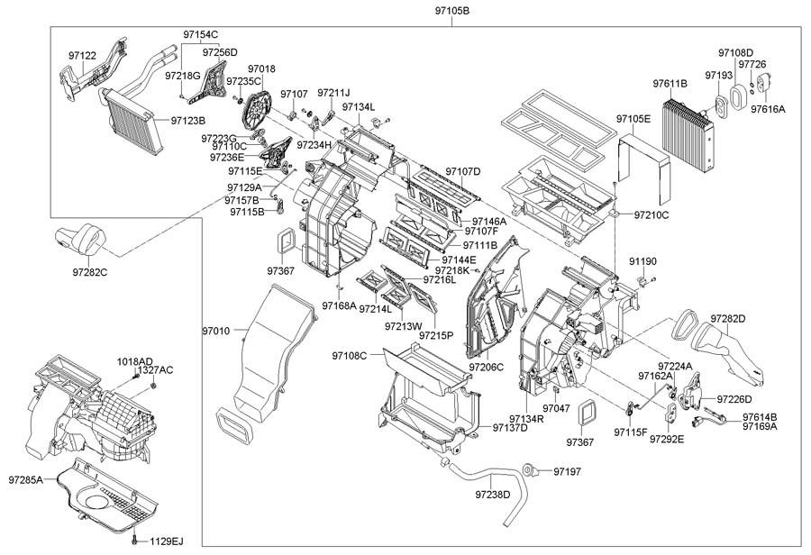 2009 Hyundai Santa Fe HEATER SYSTEM-HEATER & BLOWER
