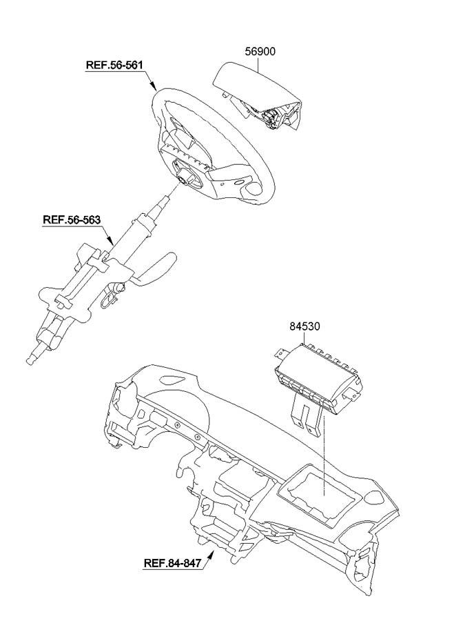 2011 Hyundai Sonata AIR BAG SYSTEM