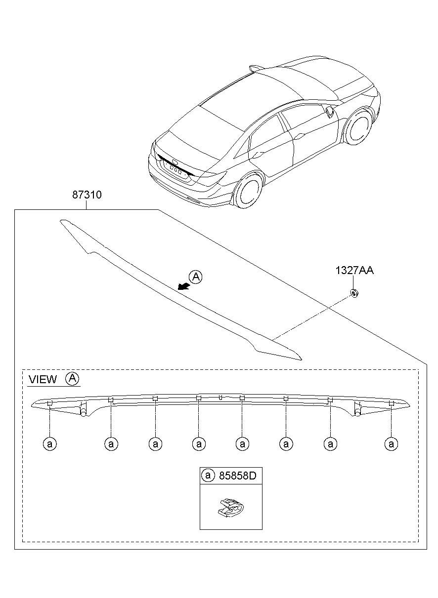 2012 Hyundai Sonata SIDE TRIM & MOULDING