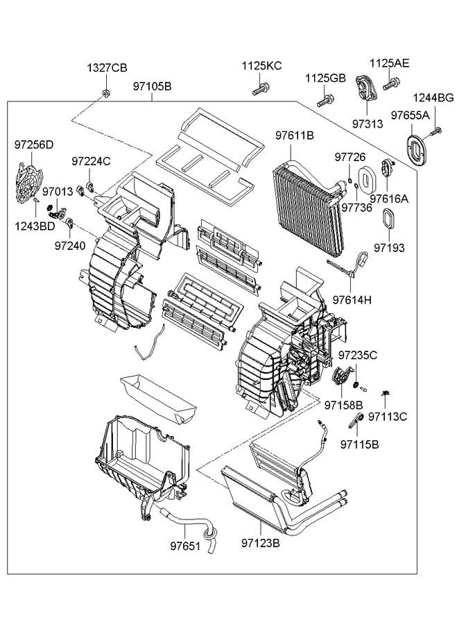 2007 Hyundai Accent HEATER SYSTEM-HEATER & BLOWER