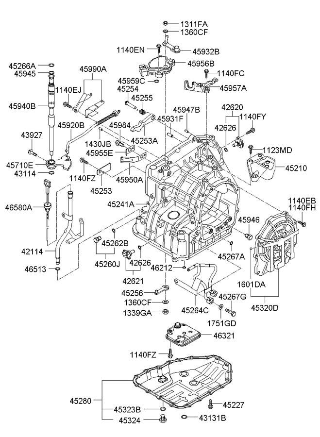 2006 Hyundai Elantra TRANSAXLE CASE(ATA)
