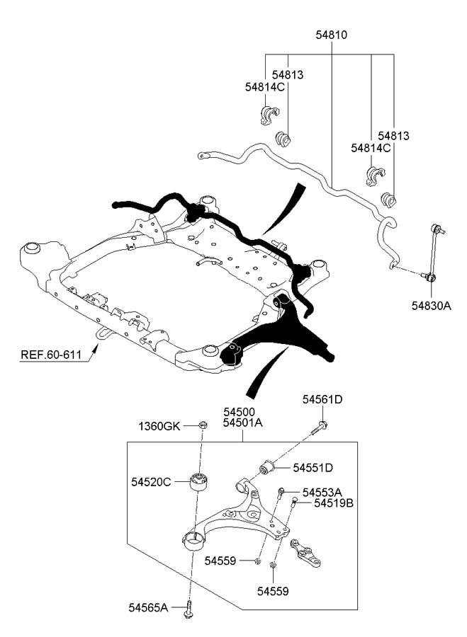 2007 Hyundai Elantra FRONT SUSPENSION & SHOCK ABSORBER