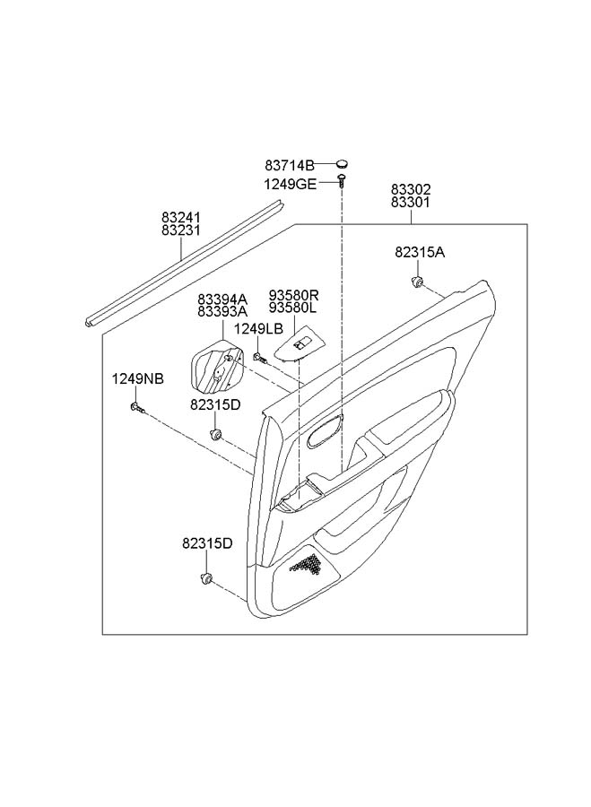 2006 Hyundai Elantra DOOR ASSEMBLY (REAR)