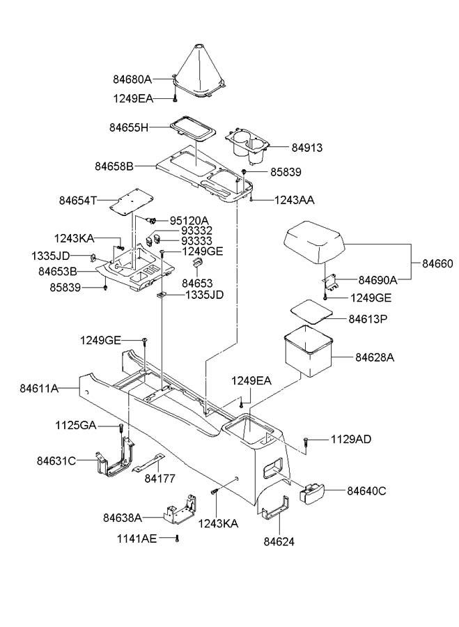 Service manual [Remove 2003 Hyundai Sonata Console