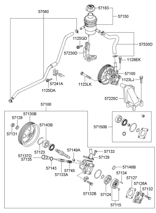 Hyundai Santa Fe POWER STEERING OIL PUMP