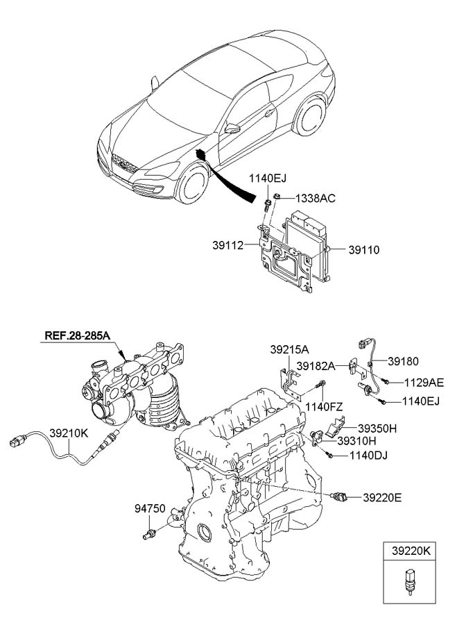 2011 Hyundai Genesis Coupe Parts Diagram
