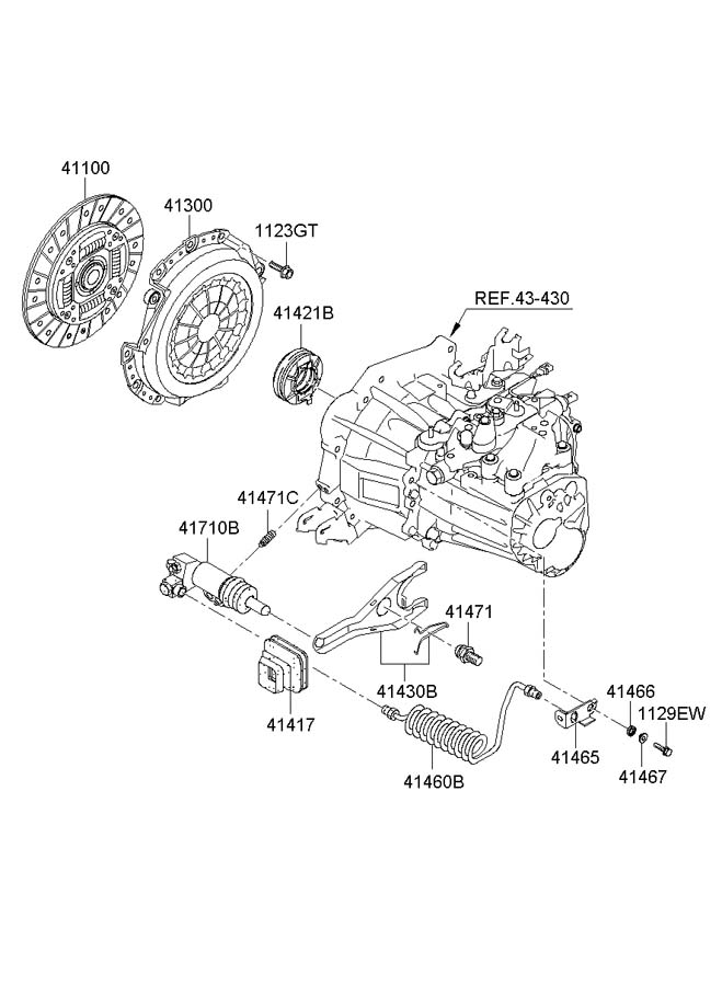 Hyundai Transmission Parts Diagram. Hyundai. Free