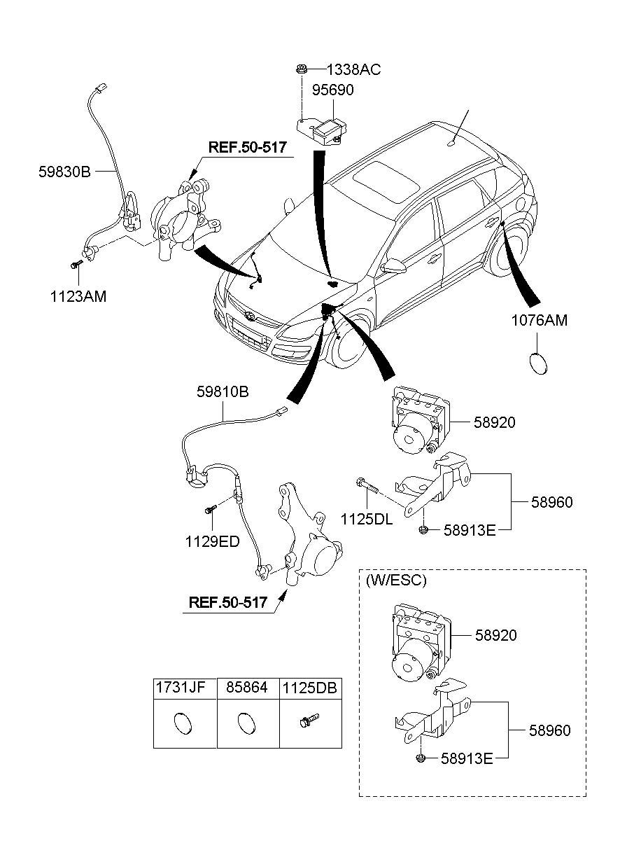 2009 Hyundai Elantra HYDRAULIC MODULE