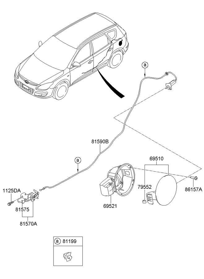 Hyundai TRIMS-FUEL FILLER DR