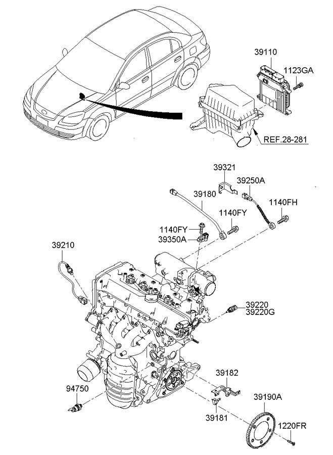 Hyundai Accent ELECTRONIC CONTROL UNIT (ECU)