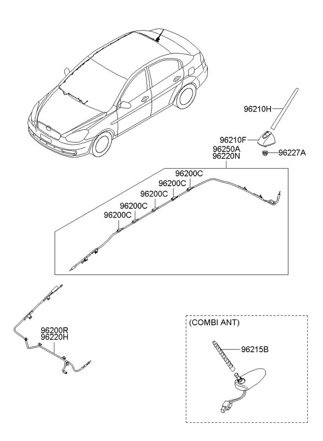 2009 Hyundai Accent ANTENNA