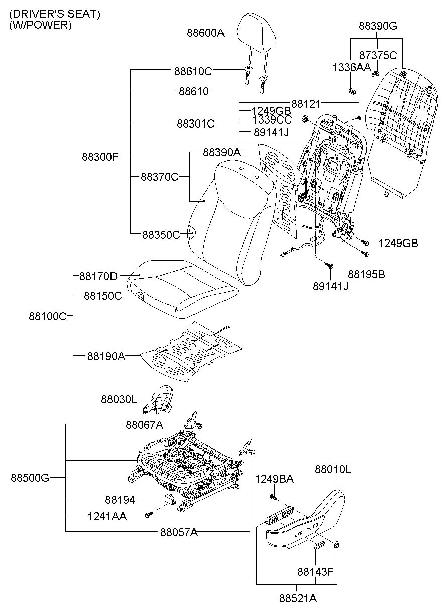 2012 Hyundai I30 FRONT SEAT